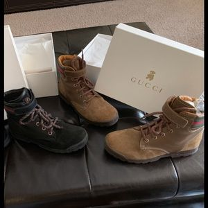 GUCCI BOOTS KIDS 2 PAIRS IN BOXES